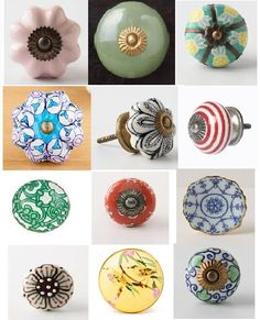 Ceramic knobs from Anthropologie