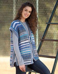 Model / Pattern of Vest of Woman of Autumn / Winter from KATIA Crochet Shrug Pattern, Crochet Vest Pattern, Crochet Blouse, Knitting Patterns, Knit Crochet, Knitting Kits, Knitting Machine, Knitting Needles, Beginner Crochet Projects