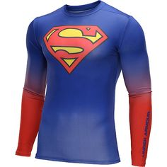 d59bc9882e40 Under Armour Men s Alter Ego Superman HeatGear Compression Long-Sleeve  T-Shirt Under Armour