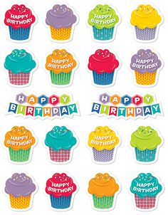 """HexaFun Happy Birthday Stickers (CTP4383) Make birthdays a little sweeter by decorating cards, posters and signs, gifts, and more with these colorful stickers! Qty: 45 - 1"""" stickers. #classroom #decor #AILtyler"""