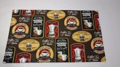 Coffee Placemats,  Kitchen Decor, Tea Placemats, Coffee Decor, Reversible Placemats, Table Decor, Table Linens by CedarCreekQuiltShop on Etsy