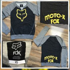 Moto-X Fox  Top Moro-X Fox Vneck Lightweight Sweatshirt... Excellent condition Size-XS Fox Tops Sweatshirts & Hoodies