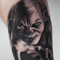 Cool Gollum Tattoo