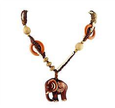 Maxi Collar Elefante boho