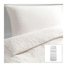 OFELIA VASS Duvet cover and pillowcase(s) - white, Twin  - IKEA. 205 thread count cotton. Textured effect. $39.99