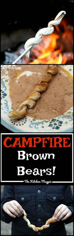Campfire Brown Bears Recipe! Gonna have to try this. You could do this in your fireplace or over your backyard fire pit...