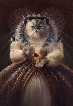 """""""Cat Queen"""" by Christina Hess"""