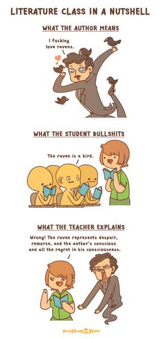 When I was an English major, this totally happened all the time. Source: accordingtodevin