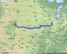Driving directions, Colorado springs and Missouri on Pinterest