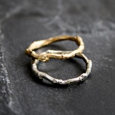 Lovely+organic+Branch/Twig+Wedding+band+in+14kt+yellow+by+opalwing,+$295.00