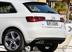#AUDI A3 A4 A5 CHROME #EXHAUST TAILPIPE TRIM TIP STAINLESS STEEL X 2