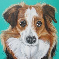 """Sadie in Seafoam"" 16x16"" The 10% donation went to Houston CAPS."