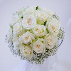Gypsophile et rose blanche