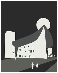 Le Corbusier, North And South America, Chapelle, Modern Architecture, Notre Dame, Typography, Graphic Design, How To Plan, Modernism