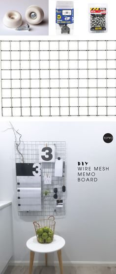 I've always fancied one of these wire mesh memo boards. Now I've got two.   I thought you might like to know how we did it with some mini mesh panelling I found at the hardware sto…