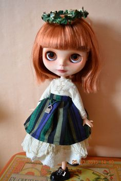 blythe dress with apron vintage cream von ShabbyVillageBunny auf Etsy