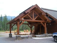 Round Timber Frame Shell Carport