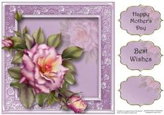 The Pink Lilac Rose 8x8 Quick Topper on Craftsuprint - Add To Basket!