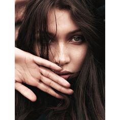 Bella Hadid covers the May 2016 issue of German Glamour News ❤ liked on Polyvore featuring bella hadid and faces