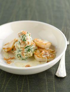 Recept voor feestelijke puree met garnalen en sint jakobsvruchten | njam!