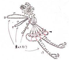 Crochet Tinkerbell Fairy - Chart ❥ 4U // hf http://crochetpedia.blogspot.com/2013/03/crochet-people-applique-patterns.html
