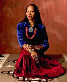 Radmilla Cody (Navajo/African American) was the first biracial Miss Navajo crowned in 1998. Courtesy: John Running.