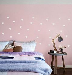 Hearts Wall Decal Kids Room Decor, 1,6u0027u0027 Heart Wall Art Stickers In 36  Colors, Peel And Stick, White U0026 Gold Heart Decals Wall Decor For Home