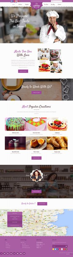Cakery is the ultimate WordPress cake shopping theme built for WordPress. Featuring beautiful and modern header styles, this #WordPress theme is suitable for cake, bakeries, a food or #beverage company or similar businesses. #website #design