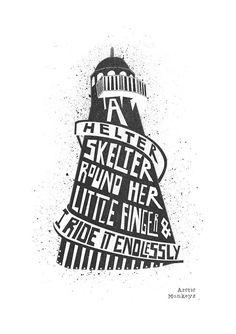 Arctic Monkeys Print Poster Arabella Helter by FoxAndVelvet