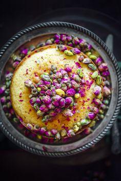 Rosewater Semolina Cake