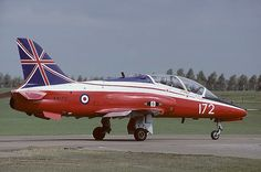 BAe Hawk T1 CFS 4 FTS RAF Valley Solo display colours. (late1980s)