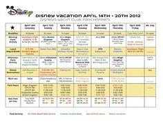 Using a Disney Planning Chart ~ Walt Disney World Hints