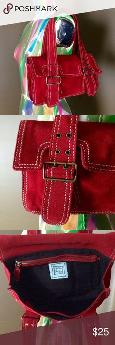 Cynthia Rowley Red Suede Bag Beautiful & soft red suede shoulder bag by Cynthia Rowley. Black lining. Like new condition. Cynthia Rowley Bags Shoulder Bags