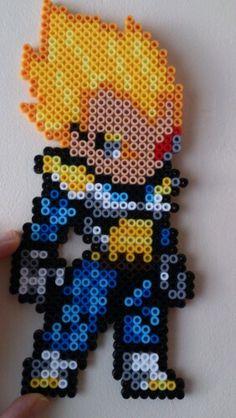 SS Vegeta Dragon Ball Z hama perler beads by Sonja Ahacarne