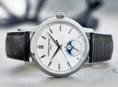 Swiss watch brand Frederique Constant regularly wows us with its elegance, sophistication and affordability. Now, the brand unveils its newest Classic Manufacture Moonphase watch. Crafted in either stainless steel or steel with rose gold-plated finish, the 40.5 mm timepiece offers a chic and harmonious appeal. Available at Darakjian Jewelers.