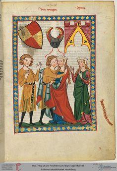 Cod. Pal. germ. 848: Große Heidelberger Liederhandschrift (Codex Manesse) (Zürich, ca. 1300 bis ca. 1340), Fol 300r