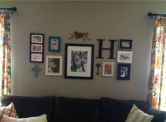 My photo wall  love the shaping