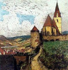 KASIMIR Luigi, 1881-1962 (AUT / USA), etching   Weissenkirchen On The Danube