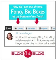 Blogging Tips | How to Blog | How to get a Fancy Bio Box on my blog - Blog Chicka Blog