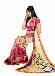 Multi Color Amazing Evergreen Sari