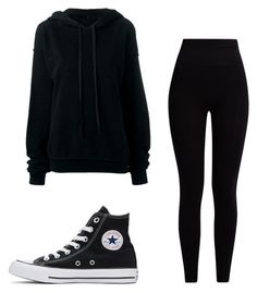 """Mila's casual wear"" by pantsulord on Polyvore featuring Converse, Unravel and Pepper & Mayne"