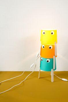 Monsterleuchten // WE LIKE MONDAYS Luminaire Original, Mondays, Happy Monday, Crafts For Kids, Crafting, Table Lamp, Diy, Home Decor, Originals