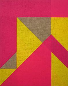 Jonathan Runcio  Untitled, 2009  Spray paint on linen  15 x 12 inches