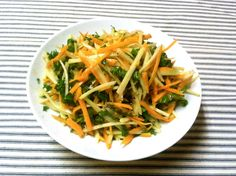 "a.k.a. ""CSA Slaw"" by Chef Mario   Ingredients -half a bunch baby red russian kale -1 heads of kolrabi -1 bunch carrots -2 tablespoons exta virgin olive oil -2 tablespoons cider or sherry vinegar ..."