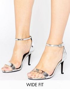45b18be55f7736 New Look Wide Fit Barely There Heeled Sandal Anziehen