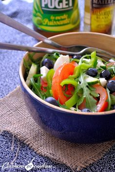Cuisinons en Couleurs: Salade anti-oxydante : Roquette, tomates, mozzarel...