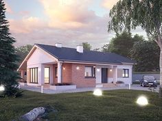 Malmo projekt domu - DOMY w Stylu Village Houses, House Plans, Floor Plans, Outdoor Structures, Mansions, House Styles, Outdoor Decor, Design, Home Decor
