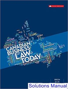 Information technology for management 10th edition solutions manual solutions manual for canadian business law today canadian 1st edition by breen ibsn 0070310068 fandeluxe Gallery