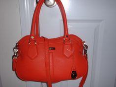 NWT Cole Haan Eliza Spicy Orange Village Crossbody Satchel Handbag  Leather
