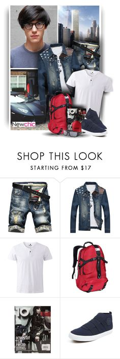 """Newchic Anniversery Sale - Denim Look"" by christiana40 ❤ liked on Polyvore featuring DUO, Oakley, men's fashion and menswear"